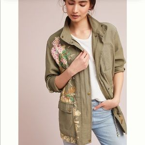 🎉HP🎉NWT embellished anorak jacket| Anthropologie